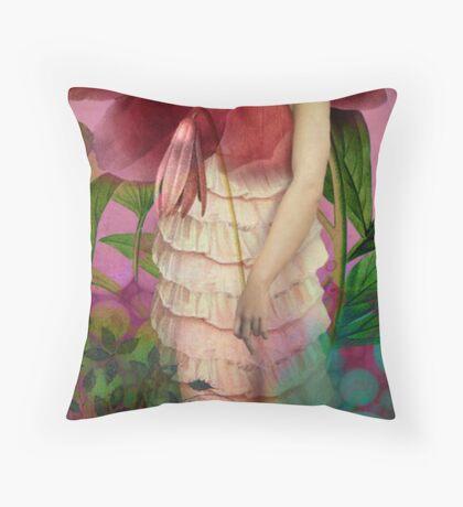 Red Gardens Throw Pillow