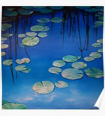 Still Waters with Lilypads Poster