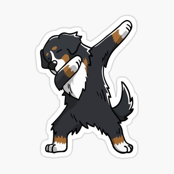 Funny Dabbing Bernese Mountain Dog Sticker