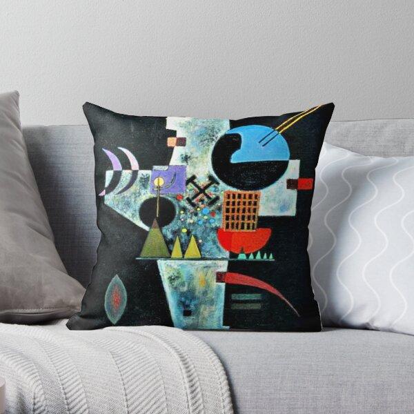 Kandinsky - Cross, abstract artwork Throw Pillow