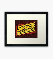 LASER SWORD SPACE WIZARDS Framed Print