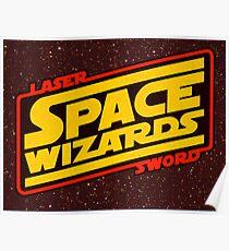 LASER SWORD SPACE WIZARDS Poster