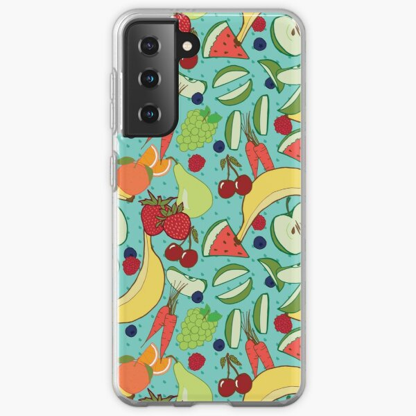 """""""Fruit Lunchbox"""" repeat pattern Samsung Galaxy Soft Case"""