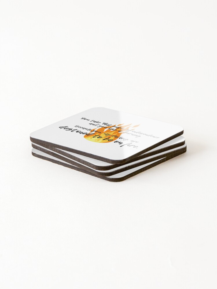 Alternate view of Destined to be on fire - Schitt's Creek Coasters (Set of 4)