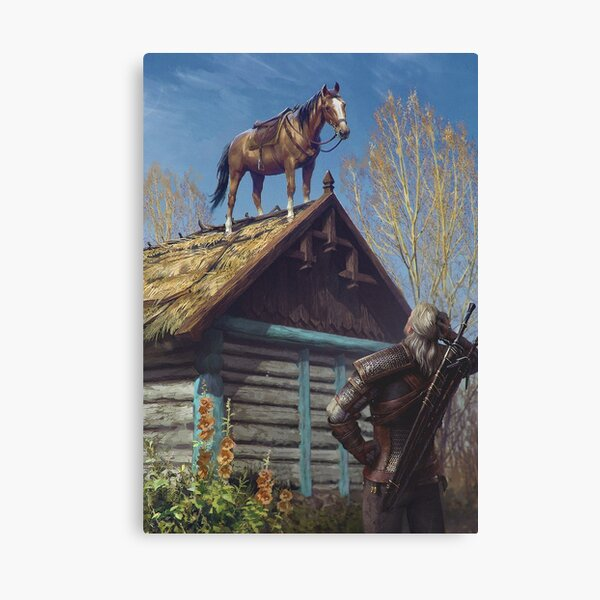 Witcher 3 Roach Graphic, Roach on the roof Canvas Print