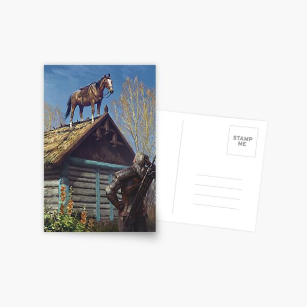 Witcher 3 Roach Graphic, Roach on the roof Postcard