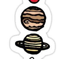 Planets Colour Sticker