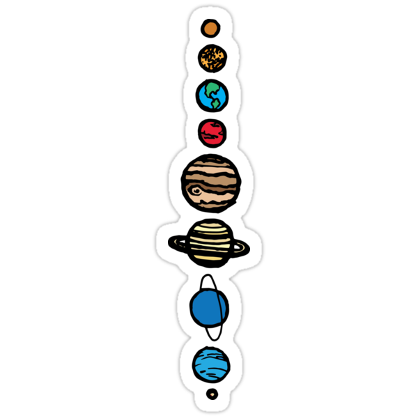 Quot Planets Colour Quot Stickers By Tpdesigns Redbubble