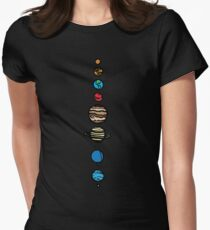 Planets Colour Womens Fitted T-Shirt