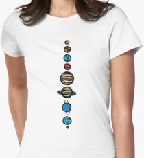 Planets Colour Women's Fitted T-Shirt