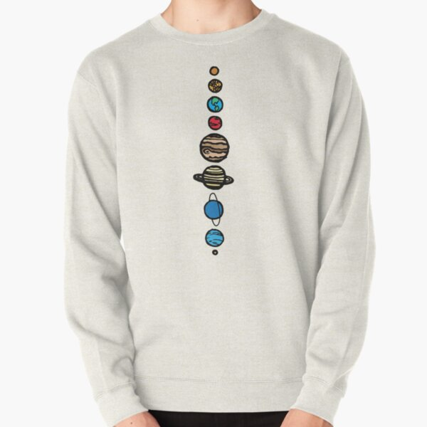 Planets Colour Pullover Sweatshirt