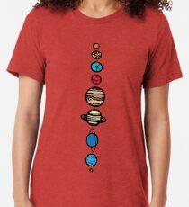 Planeten Farbe Vintage T-Shirt