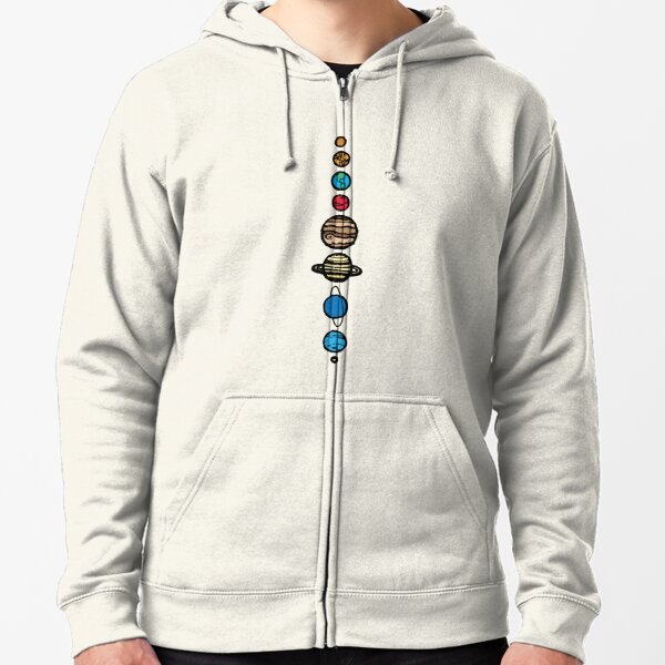Planets Colour Zipped Hoodie