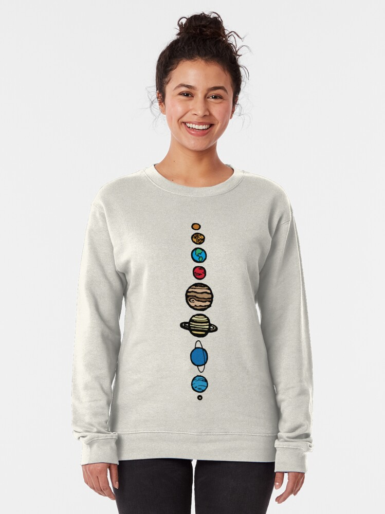 Alternate view of Planets Colour Pullover Sweatshirt