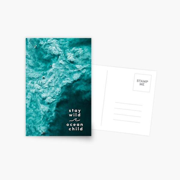 Stay Wild, Ocean Child | Surf Print Postkarte