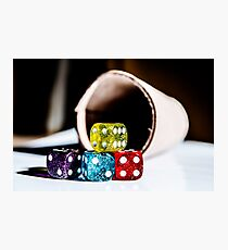 Roll The Dice Photographic Print
