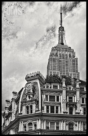 Empire State Over Gilsey House by steeber