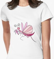 Pink Orchid Mantis Women's Fitted T-Shirt