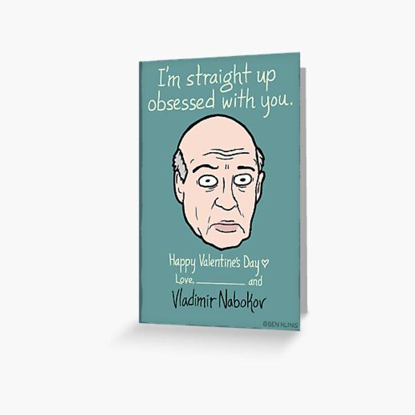 Vladimir Nabokov Greeting Card