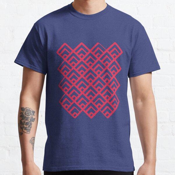 Fondo geométrico de la casa de los Cuervos Camiseta clásica