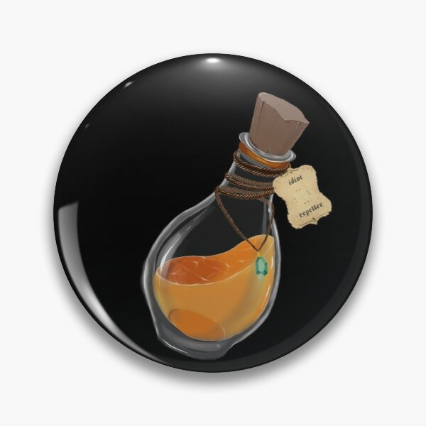 Flasque de Potion Magique 'anti idiots' Badge