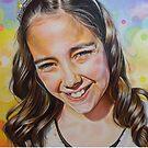 Happy Portrait of Daya by karinasfineart