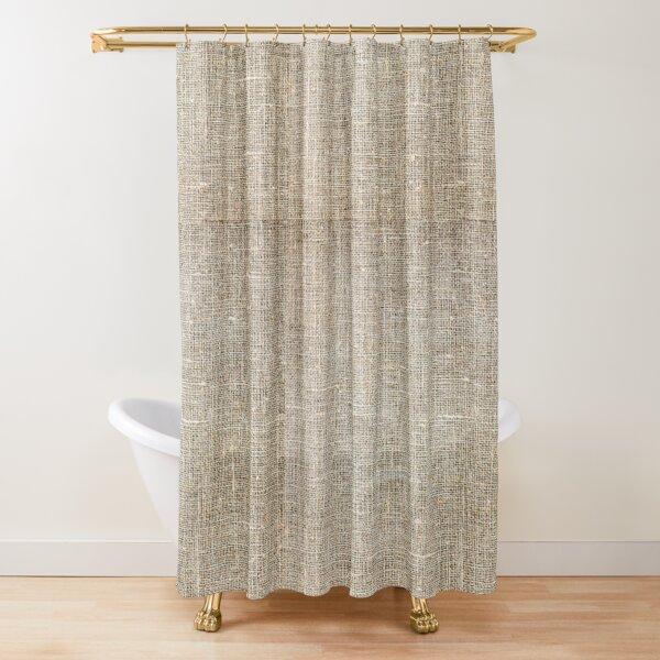brown Burlap Shower Curtain