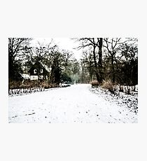 Winter's Long Walk Home Photographic Print