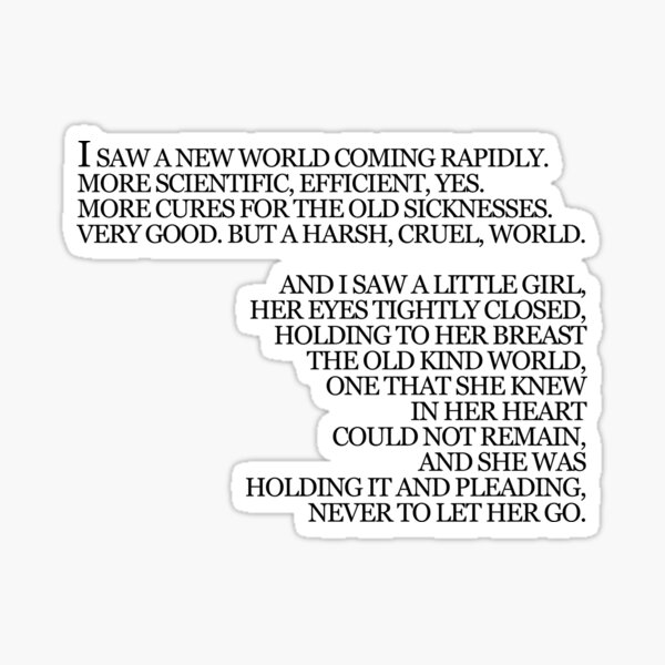 Never Let Me Go Book Quote Kazuo Ishiguro Sticker