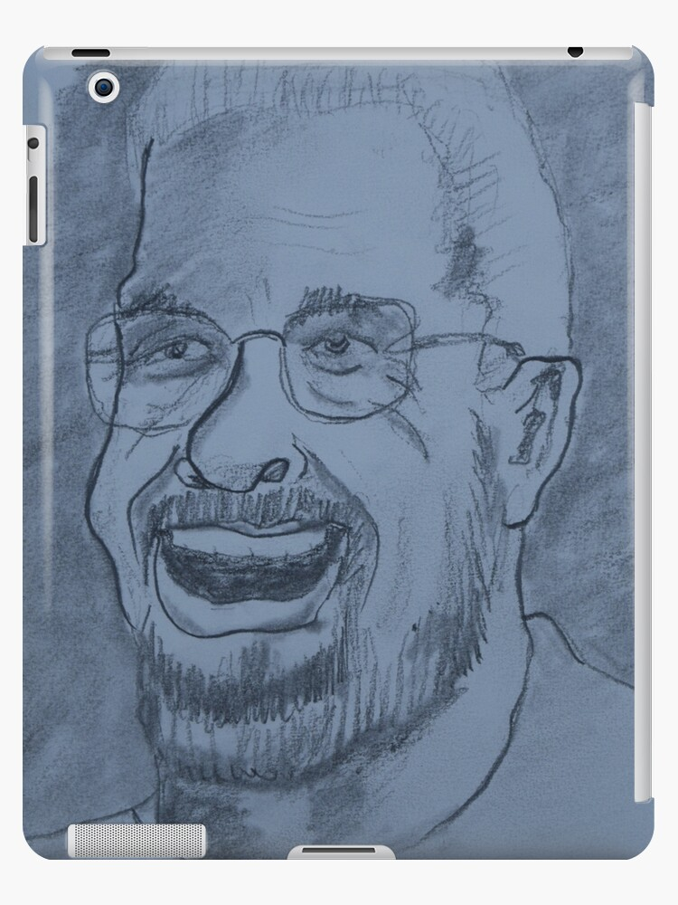 Scruffy Man With Glasses Drawing by worldartpeddler