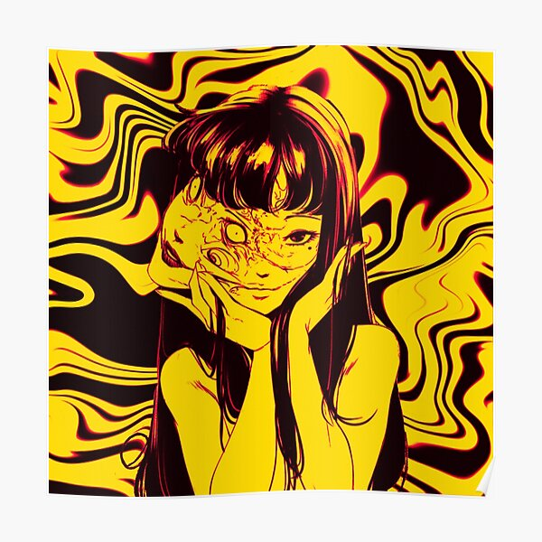 Junji Ito Collection - Tomie - Yellow Poster
