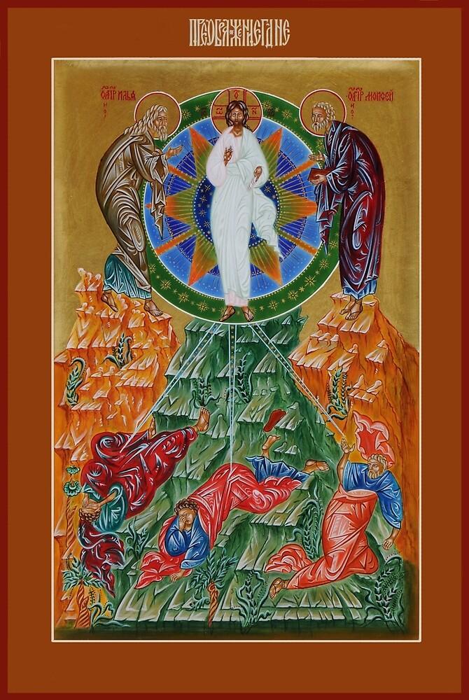 The Transfiguration of Jesus Christ by EggTemperaArt