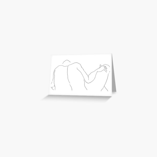 Male Nude -(070214)- Digital artwork/MS paint Greeting Card