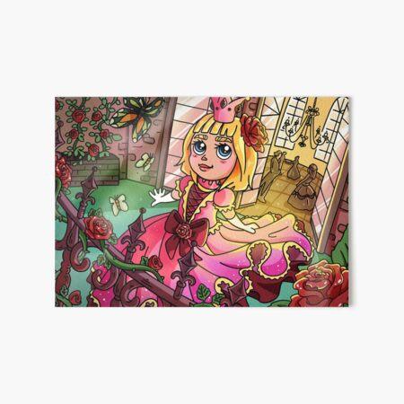 Kind Prinzessin im Rosa Kleid Galeriedruck