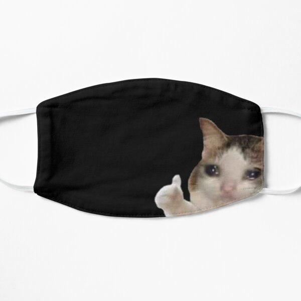 Crying Cat Meme - High Quality Mask