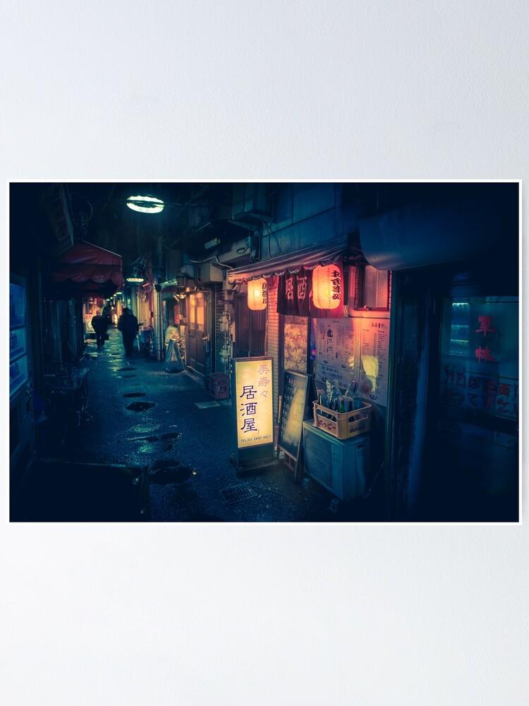 Alternate view of Hidden Bar, Tokyo Japan Poster