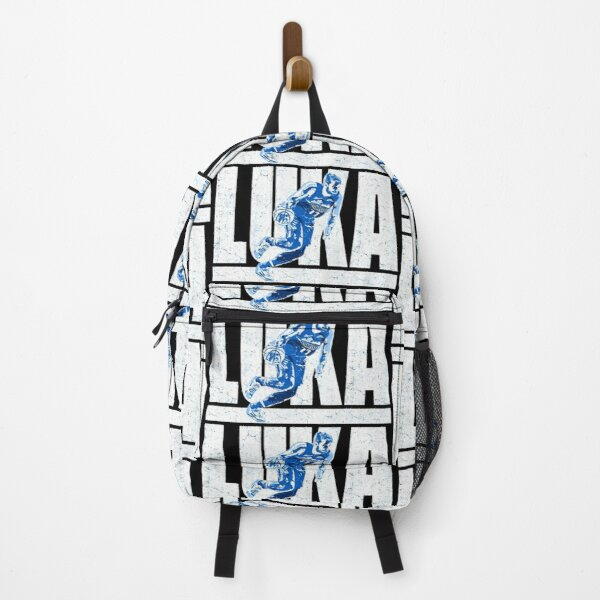 luka doncic distressed logo design with silhouette  Backpack