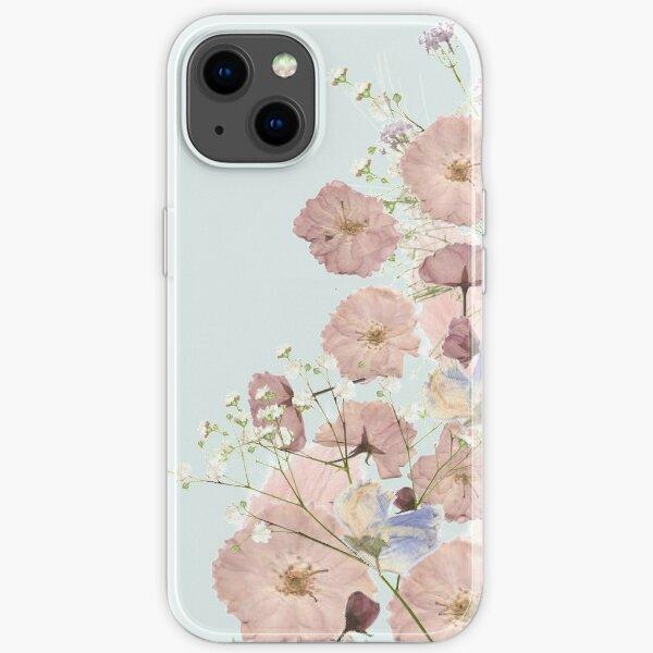 Getrocknete gepresste Blumen Cover Case iPhone Flexible Hülle