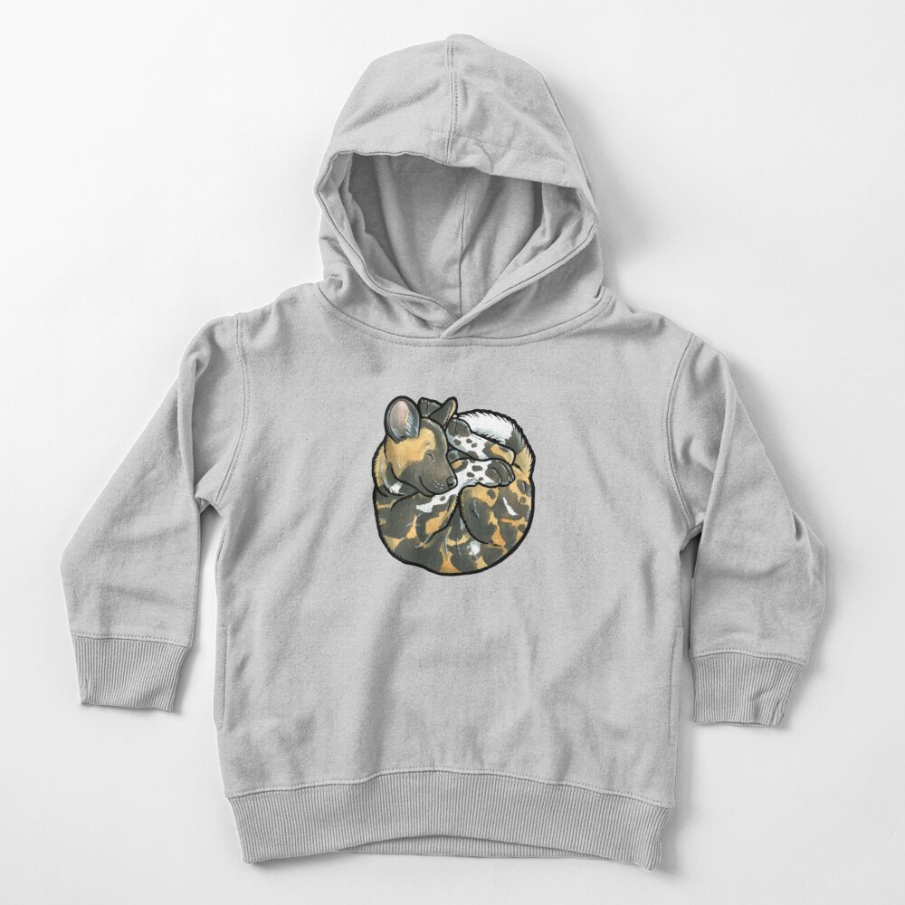 African Wild Dog pup Toddler Pullover Hoodie