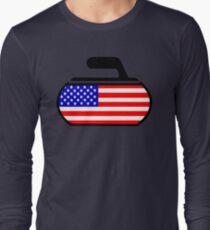 USA Curling Long Sleeve T-Shirt