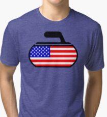 USA Curling Tri-blend T-Shirt
