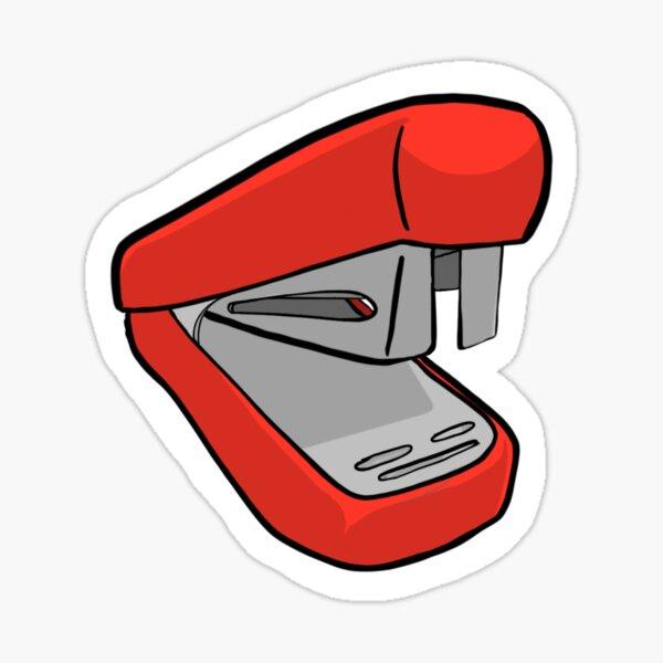 Red swing line stapler art Sticker