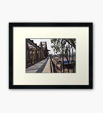 long bien bridge Framed Print