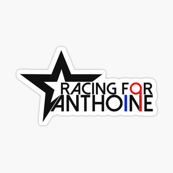 Racing For Anthoine 2020 (noir) Sticker