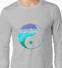 Yin & Yang (Aqua Water) Long Sleeve T-Shirt