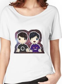 Danisnotonfire and AmazingPhil Chibi Women's Relaxed Fit T-Shirt