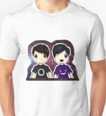 Danisnotonfire and AmazingPhil Chibi Unisex T-Shirt