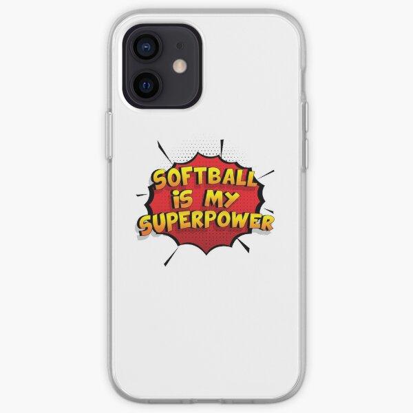 Softball ist mein Superpower Lustiges Softball Designgeschenk iPhone Flexible Hülle