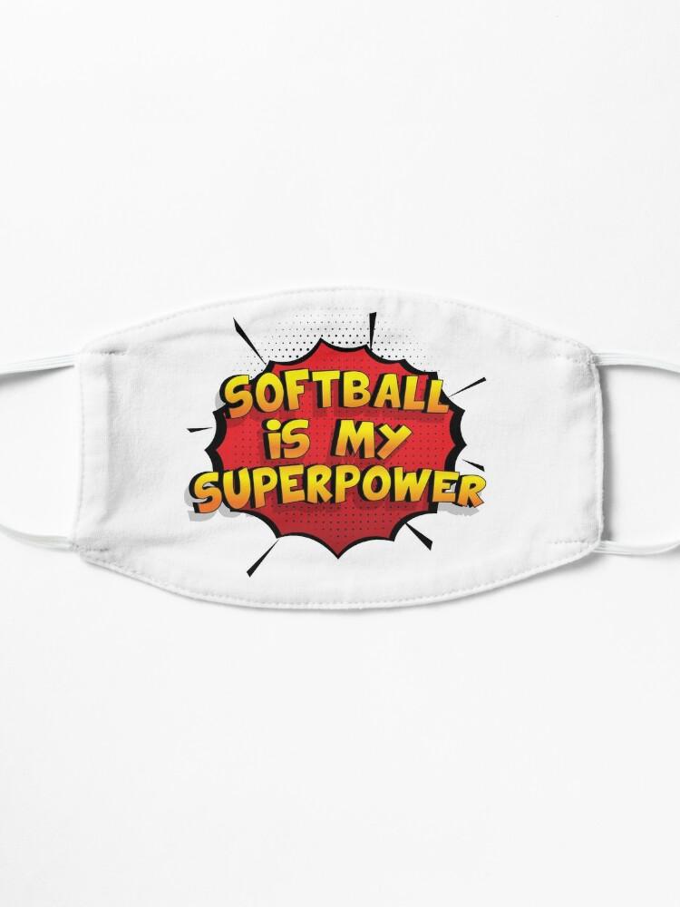 Alternative Ansicht von Softball ist mein Superpower Lustiges Softball Designgeschenk Maske