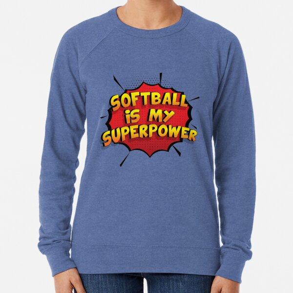 Softball ist mein Superpower Lustiges Softball Designgeschenk Leichter Pullover